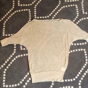 Light weight ivory summer sweater.